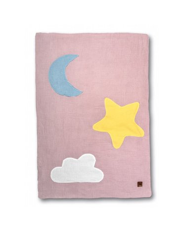 Hi Little One - kocyk muslinowy/ kołderka Day & Night Blush
