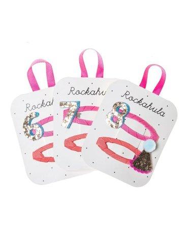 Rockahula Kids - spinki do włosów Birthday Glitter 6 7 8