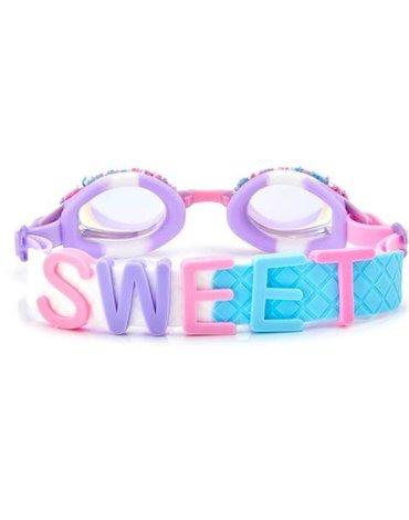 Okulary do pływania Funfetti Sweet, fioletowe, Bling2O
