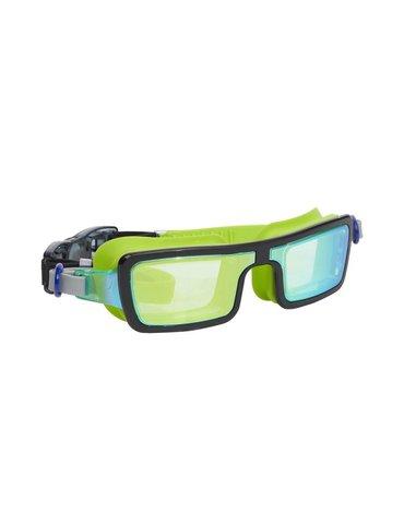 Okulary do pływania Electric 80 s, limonkowe, Bling2O