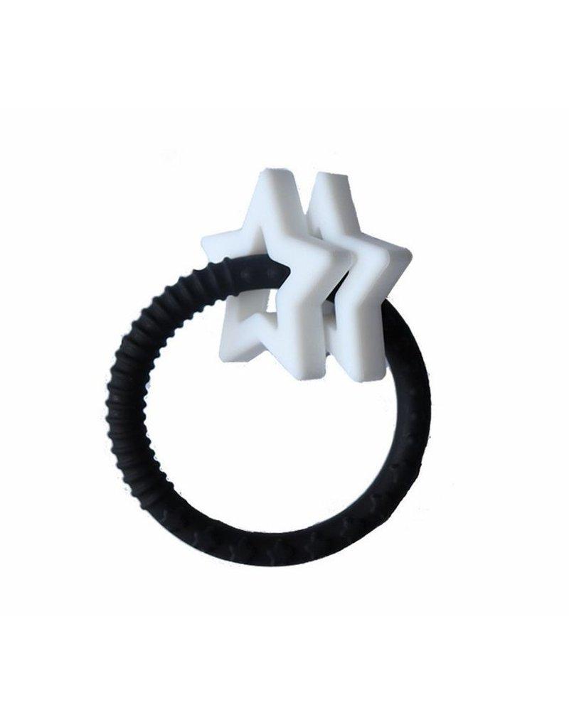 Jellystone Designs - Gryzak dla dziecka Gwiazdki, czarno biały, Jellystone Design
