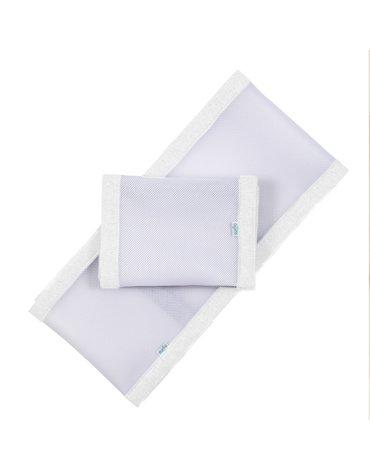 Oddychający ochraniacz do łóżeczka Pur Air PurFlo - Soft White