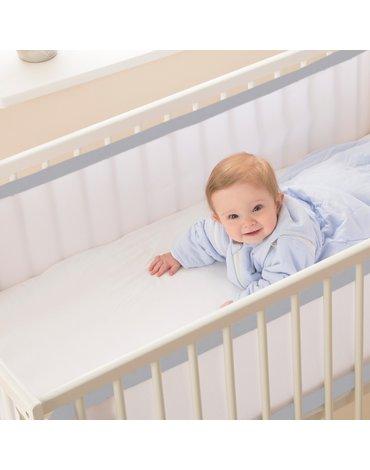 Oddychający ochraniacz do łóżeczka Pur Air PurFlo - Cloud Grey