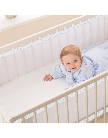 Oddychający ochraniacz do łóżeczka Pur Air PurFlo - Misty Blue
