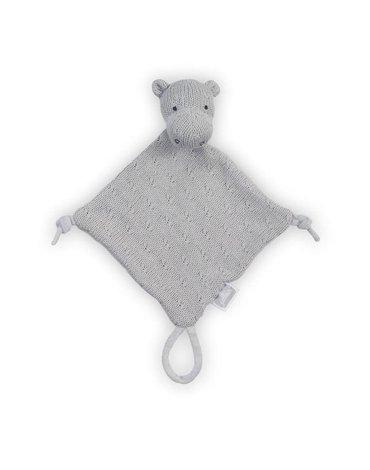Jollein - Baby & Kids - Jollein - przytulanka dou dou z zawieszką na smoczek Hippo Grey