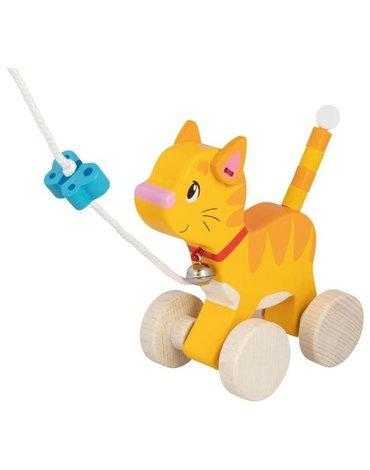 Goki® - Kotek na sznurku do ciągnięcia