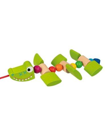 Goki® - Krokodyl na sznurku do ciągnięcia