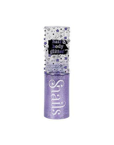 Brokatowy spray do ciała i włosów Snails - Light violet