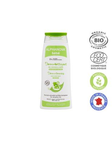 Alphanova Bebe, Dermo - Żel do mycia ciała i włosów, 200ml