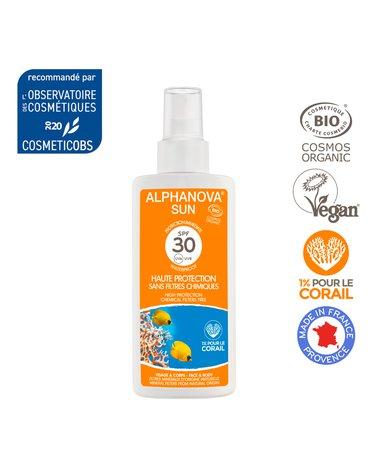 Alphanova Sun Bio Spray Przeciwsłoneczny, filtr SPF30, 125g