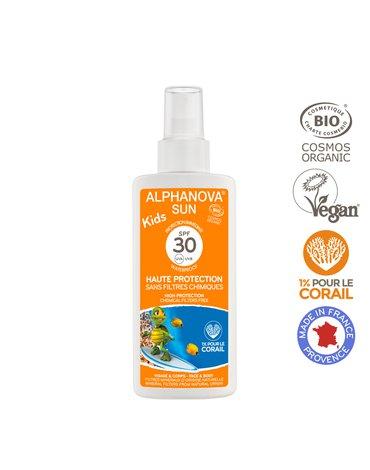 Alphanova Sun KIDS, Bio Spray Przeciwsłoneczny, filtr 30, 125g