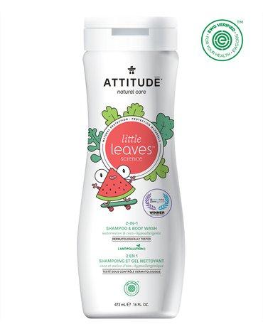 Attitude, Little Ones, Płyn do mycia i szampon 2w1, Arbuz i Kokos, 473 ml