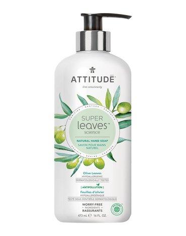 Attitude, Super Leaves, Mydło do rąk, Liście oliwki, 473ml