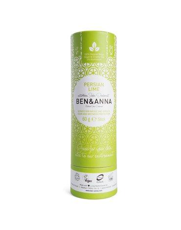 BEN and ANNA Naturalny dezodorant na bazie sody PERSIAN LIME (w sztyfcie, kartonowy)