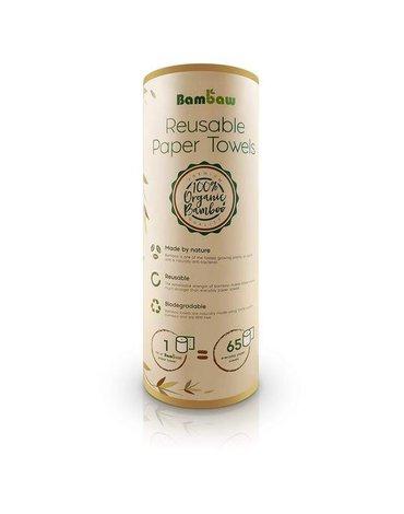BAMBAW, Wielorazowe ekologiczne ręczniki papierowe z bambusa, 20 szt.