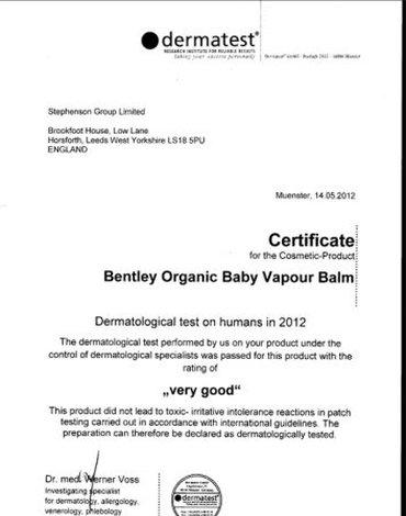 Dziecięcy ORGANICZNY Balsam Ułatwiający Oddychanie - Na Przeziębienia Bentley Organic - KARTON, 12 sztuk