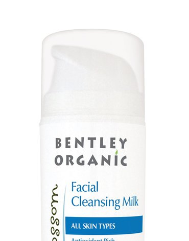 Bentley Organic, Skin Blossom, Antyoksydacyjne bogate mleczko do mycia twarzy, 150ml