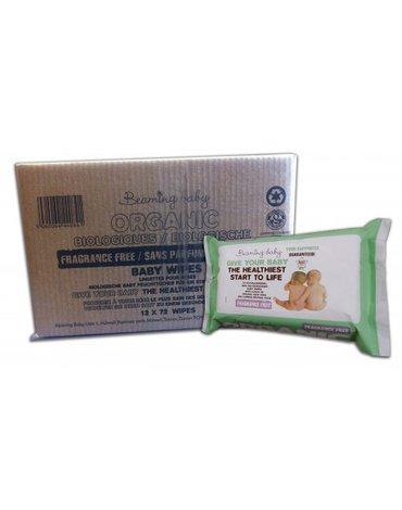 Beaming Baby, Organiczne Chusteczki Nawilżane BEZZAPACHOWE - KARTON, 12 x 72 szt.