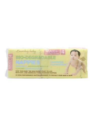 Beaming Baby, size 4, pieluszki Maxi Plus 9 - 15 kg, 34x4szt., KARTON