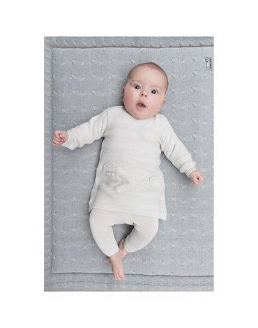 Baby's Only, Tkana sukienka w prążki, Jasnoszara, rozmiar 56