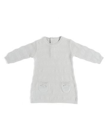 Baby's Only, Tkana sukienka w prążki, Jasnoszara, rozmiar 62