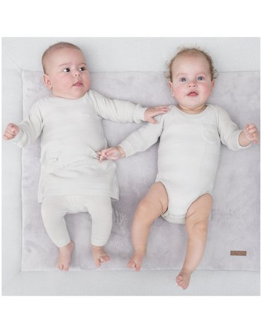 Baby's Only, Body tkane w prążki z długim rękawem, Różowe, rozmiar 56 SUPER PROMOCJA -50%
