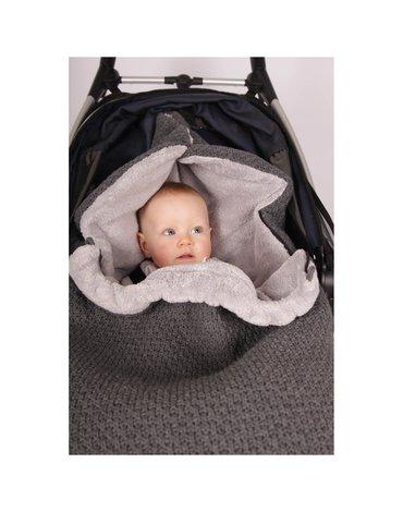Baby's Only, Cable grey, Śpiworek do wózka, jasnoszary