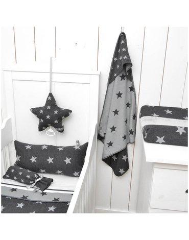 Baby's Only, Star Kocyk niemowlęcy dwustronny, 95x70cm, Fuksja/Biały