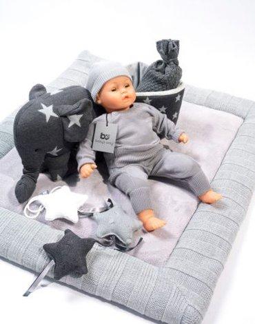 Baby's Only, Star Miękka mata do zabawy, Miętowy/Biały, 85x100cm SUPER PROMOCJA -50%