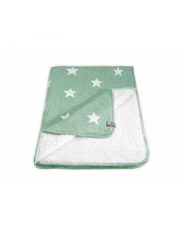 Baby's Only Star Kocyk niemowlęcy dwustronny z minky, 95x70cm, Miętowy/Biały