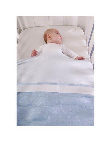 Baby's Only,Baby Crib Sheet, Mint Okrycie do łóżeczka podszyte prześcieradełkiem, 100x80cm, miętowy