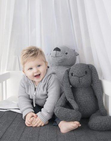 Baby's Only, Robust Light Grey RIB Koc dziecięcy 95x70 cm, jasny szary
