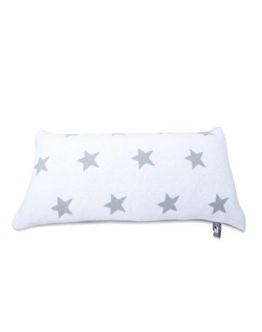 Baby's Only, Star Poduszka z tkaną powłoczką, 60x30cm, Jasnoszary/Biały