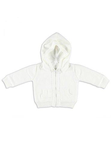 Baby's Only, Sweterek rozpinany z kapturem Biały, rozmiar 68