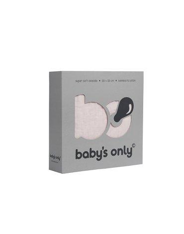 Baby's Only, PROMOCJA -50%, Otulacz bambusowy, różowy, 120x120cm, WYPRZEDAŻ