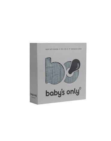 Baby's Only, PROMOCJA -50%, Otulacz bambusowy, kamienna zieleń, 120x120cm, WYPRZEDAŻ -50%