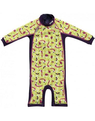 Close, Ocieplany kombinezon do pływania dla dziecka, Flaming (Lala and Bugsy), Large (18-24 miesięcy), OSTATNI RAZ W OFERCIE