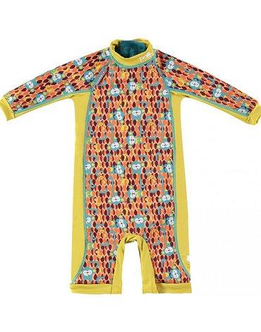 Close, Ocieplany kombinezon do pływania dla dziecka, Małpki (Ticky and Bert), Large (18-24 miesięcy), OSTATNI RAZ W OFERCIE