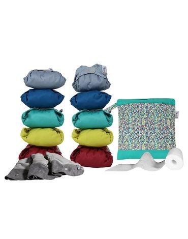 Close, Pop-in Zestaw 10 pieluszek BAMBOO V2 - żywe kolory