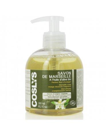 Coslys, Marsylskie mydło w płynie na bazie oliwy z oliwek mandarynka, 300ml
