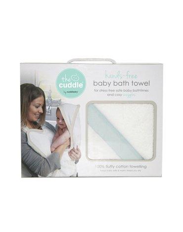 CUDDLEDRY - The Cuddle, Bawełniany ręcznik fartuch, biały/miętowy