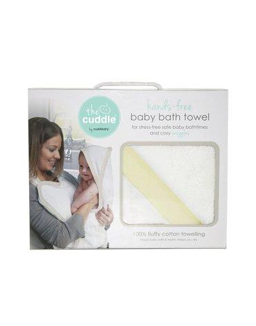 CUDDLEDRY - The Cuddle, PROMOCJA -20% Bawełniany ręcznik fartuch, biały/żółty OSTATNI RAZ W OFERCIE