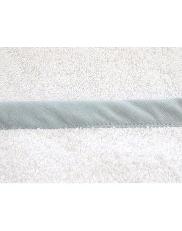 CUDDLEDRY - The Cuddle, Bawełniany ręcznik fartuch, biały/szary