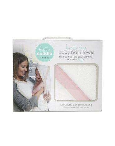 CUDDLEDRY - The Cuddle, Bawełniany ręcznik fartuch, biały/różowy