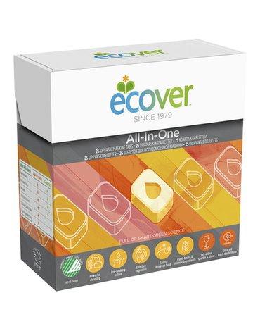 Ecover, Tabletki do zmywarki All-in-one (25 szt.) 0,5 kg