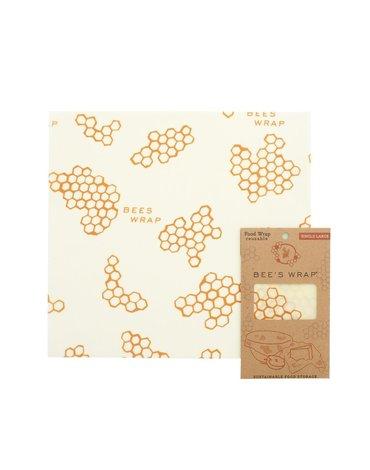 Bee's Wrap, Woskowana organiczna bawełna do zawijania, rozm. L 33 x 35 cm