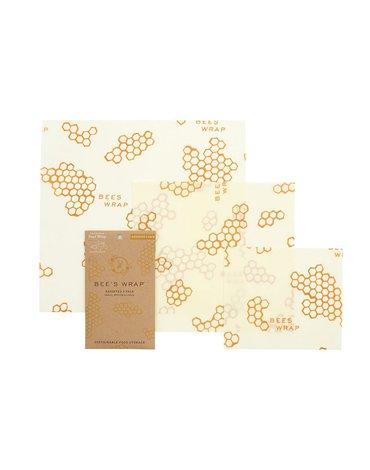 Bee's Wrap, Woskowana organiczna bawełna do zawijania, 3 szt., MIX S, M, L