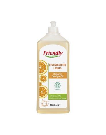 Friendly Organic, Płyn do mycia naczyń, pomarańczowy, 1000 ml