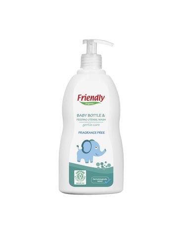 Friendly Organic, Płyn do mycia butelek dziecięcych, bezzapachowy, 500ml Dispenser