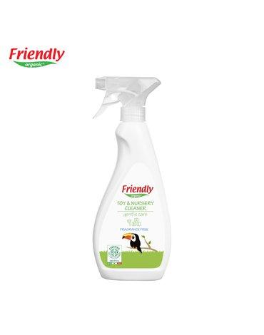 Friendly Organic, Spray do czyszczenia zabawek i pokoju dziecięcego, bezzapachowy, 500 ml